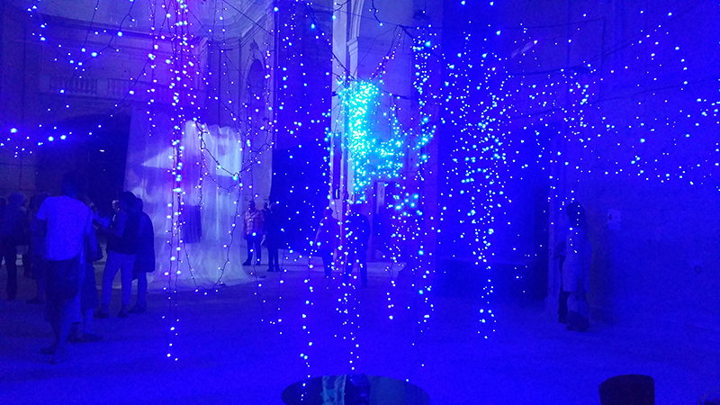 Jardin du temps, 2016, dimension variable, light installation